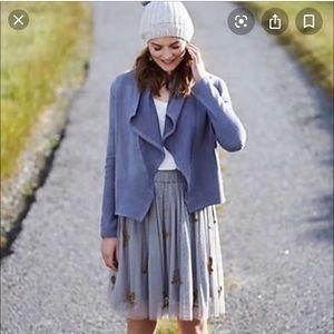 Anthropologie beaded tulle skirt